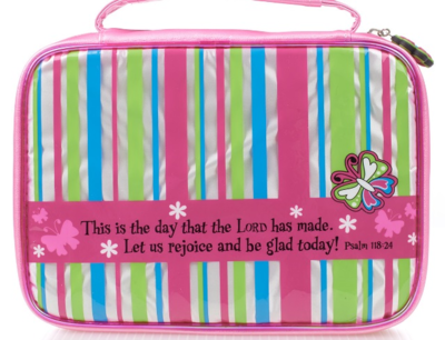 """""""THIS IS THE DAY"""" STRIPED BIBLE COVER"""