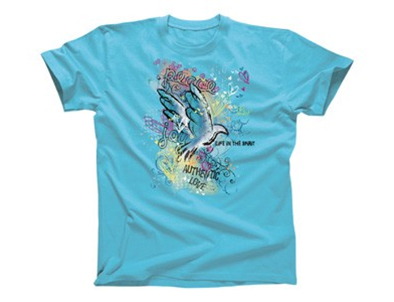 LIFE IN THE SPIRIT TSHIRT TURQUOIS