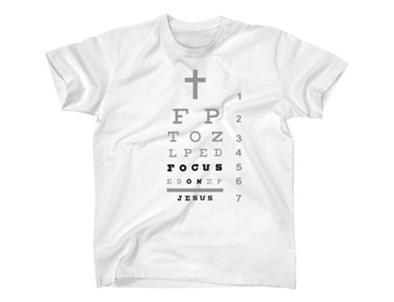 FOCUS ON JESUS TSHIRT WHITE