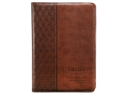 """Trust"" Legal Size Zippered Portfolio - Proverbs 3:5"