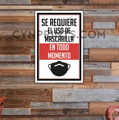 Rótulo Mascarilla / Letrero