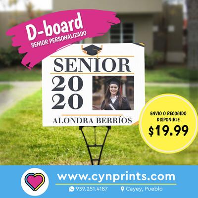 Dboard senior/ graduando personalizado