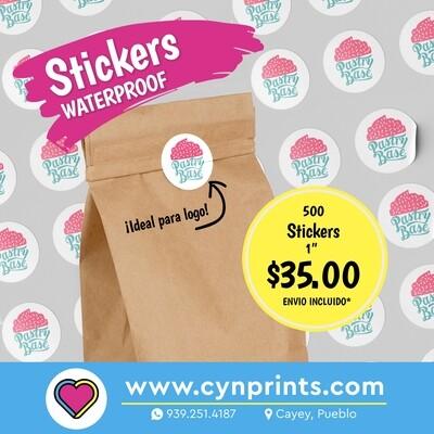 """Stickers a prueba de agua (waterproof) 1"""""""