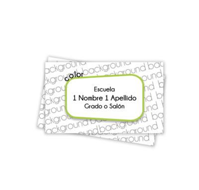Diseña tus propios Labels*