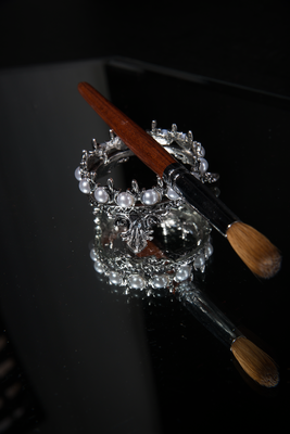 Pewter Crown Brush Mount