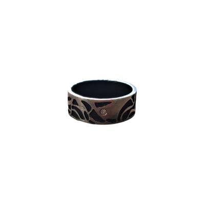 1042 Single Diamond Wide Band Topo Ring