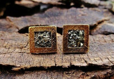 Small Gold Crush Stud Earrings