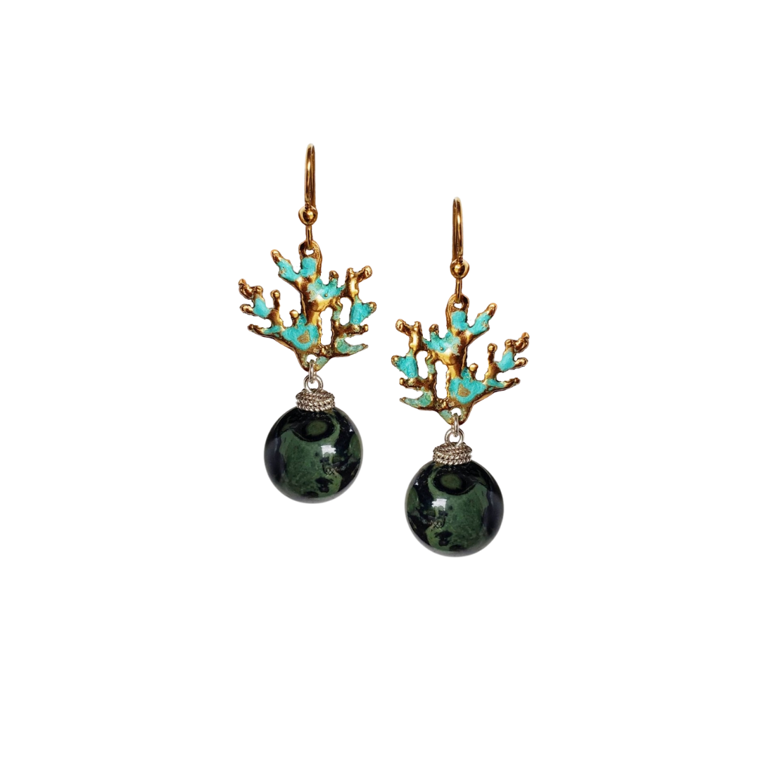Coral Branches GB Drop Earrings