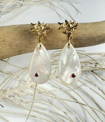 Adrianne Mother of Pearl Earrings