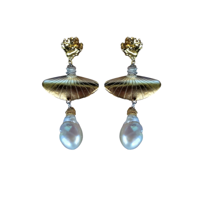 Marie Pearl Statement Earrings