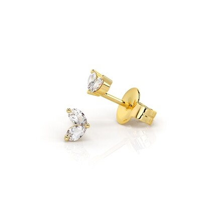Solid Gold and Sapphire Babylyn Stud Earrings