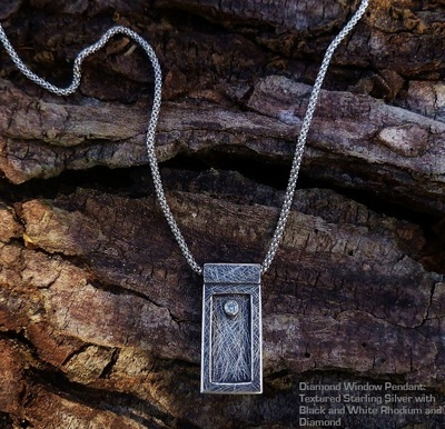 Diamond window Pendant-Necklace