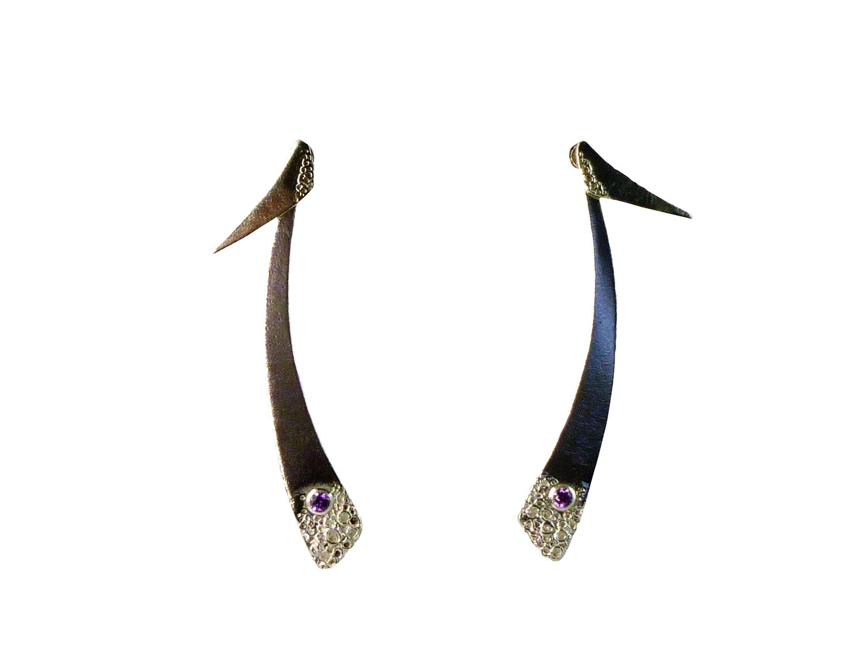 Fever Bush single stone Ear Jacket Earrings