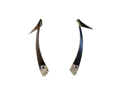 Fever Bush single stone Ear Jacket Earrings