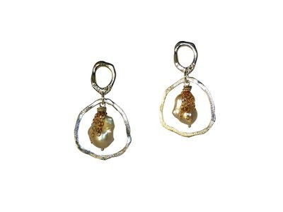 River Rock Pearl Earrings