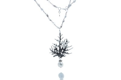Coral Branches Pendant Necklace