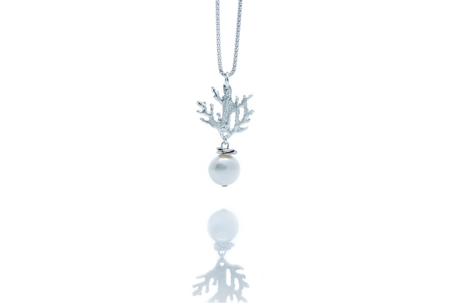 Coral Branches Pendant-charm Necklace