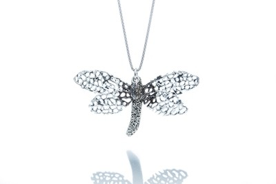 Seafan Dragonfly Convertible Pendant Necklace