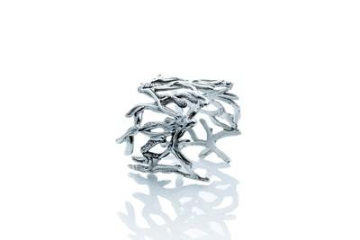 Silver Driftwood Cuff