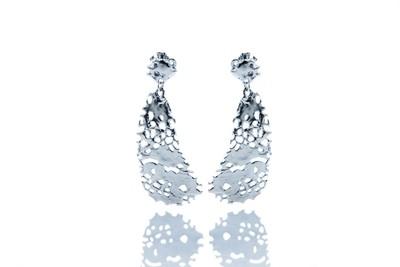Triangle Sea fan ear pendant