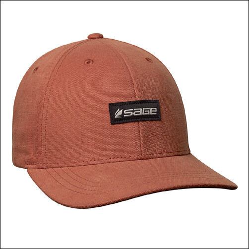 SAGE 6 Panel Logo Hat  - Rust