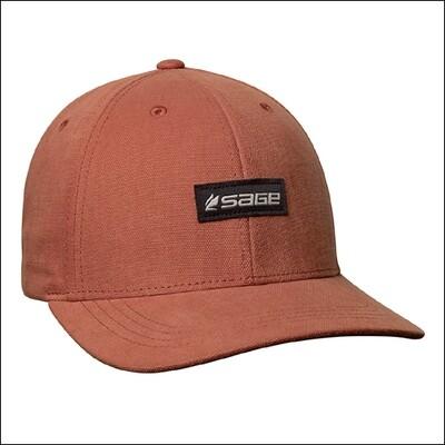 SAGE 6 Panel Logo Hat  - Rust