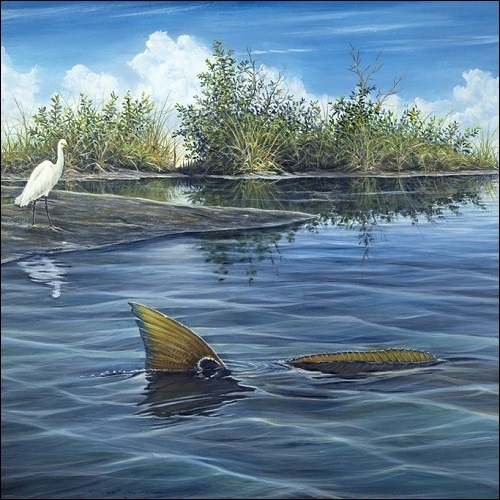 Steve Whitlock 'Tailing Redfish'