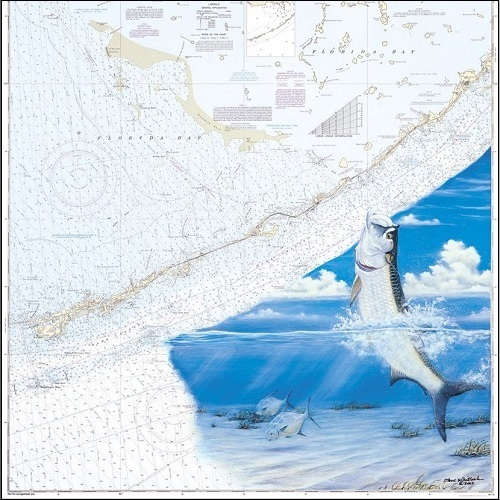 Steve Whitlock 'Middle Keys Tarpon Chart'