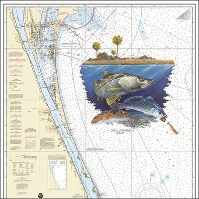 Steve Whitlock 'Indian River Slam Chart -Snook, Sea Trout, Redfish'