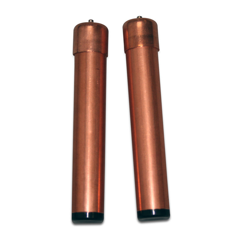 Copper handhelds to be used with Snap end coiled cables 021