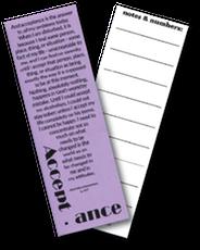 Acceptance Bookmark