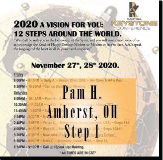 Pam H. - Amherst, OH - @ Keystone Roundup - Step 1