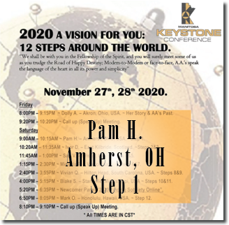 Pam H. - Amherst, OH - @ Keystone Roundup - Step 1