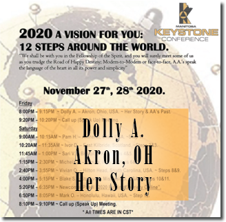 Dolly A. - Akron, OH - @ Keystone Roundup - Her Story & AA's Past