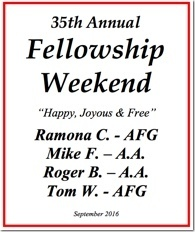 35th Al-Anon Fellowship Weekend - 2016