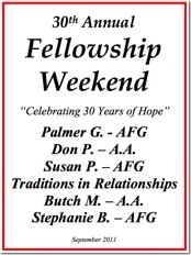 30th Al-Anon Fellowship Weekend - 2011