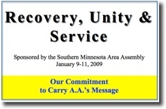 Recovery, Unity & Service Conference - 2009