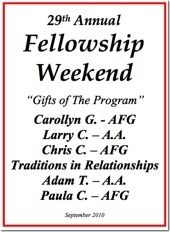 29th Al-Anon Fellowship Weekend - 2010