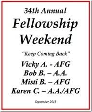 34th Al-Anon Fellowship Weekend - 2015