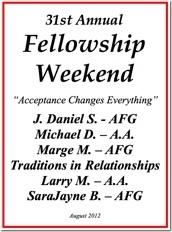 31st Al-Anon Fellowship Weekend - 2012