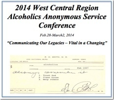 West Central Regional AA Service Conference - 2014