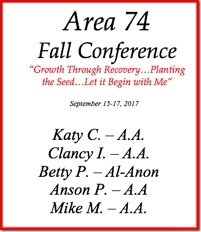 Area 74 Fall Conference - 2017