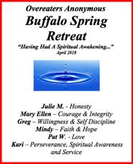 2018 O.A. Buffalo Spring Retreat