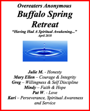 2018 Buffalo Spring Retreat