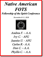 Fellowship of the Spirit Conference - 2018