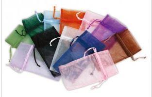 "1 3/4""x2"" Organza Bags, Asst Colors, 12 Pack"