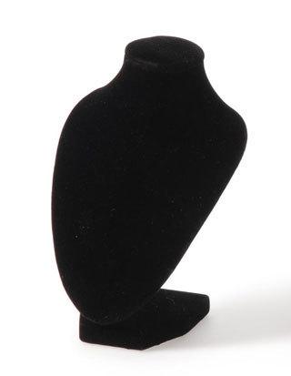 "Necklace Display, 5""W x 4 1/8""D x 7 1/2""H, Black Velvet, Priced Each"