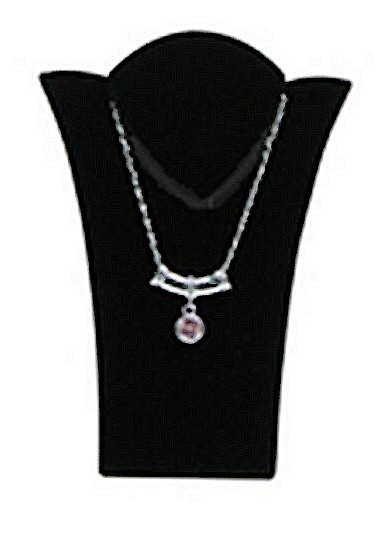 "Necklace Display with Easel, 2 15/16""W x  3 7/8""H, Black Velvet, Priced Each"