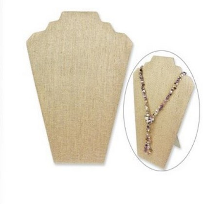 """Necklace Display with Easel, 8  1/4""""W x  12 1/2""""H, Linen Covered, Priced Each"""
