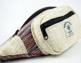 Fanny Pack Made of Cotton with Front Zipper, Priced Each